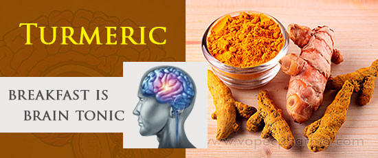 Turmeric for breakfast is brain tonic