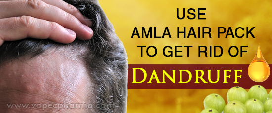 Use Amla Hair Pack to get Rid of Dandruff